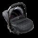 Classic pram Turran Eco Black Leather 3 in 1 travel system