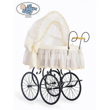 Wicker Crib Moses basket Vintage Retro - Cream