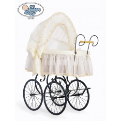 Wicker Crib Moses basket Vintage Retro - Cream