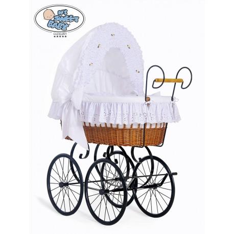 Wicker Crib Retro - White