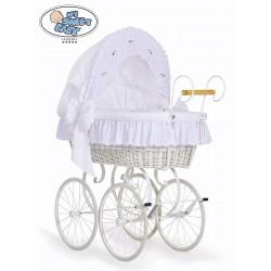 Wicker Crib Moses basket Vintage Retro - White
