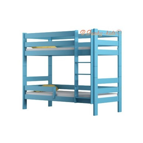 Solid pine wood bunk bed Casper 160x70 cm
