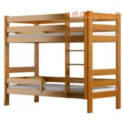 Solid pine wood bunk bed Casper 160x70 cm