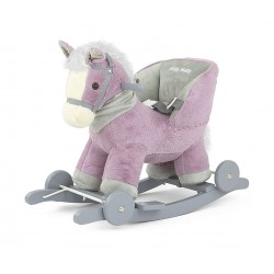 Rocking horse Polly purple