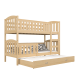 Solid pine wood bunk bed Jacob 3 190x80 cm