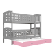 Bunk bed  Jacob 3 for 3 person with roll-out bed 190x80 cm