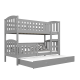 Bunk bed  Jacob 3 for 3 person with roll-out bed 200x90 cm
