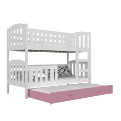 Bunk bed Jacob 3 for 3 persons with roll-out bed 160x80 cm